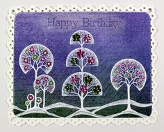 This was another of my recent show samples created for Chocolate Baroque using the Fantasy Woodland stamp set. Anne Waller #chocolatebaroque #stamping #cardmaking