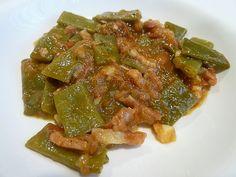 Asparagus, Bacon, Vegetables, Food, Green Beans, Dinner, Studs, Vegetable Recipes, Eten