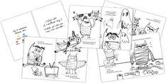 El Monstruo de Colores Coloreable - detalle. Ilustraciones Anna Llenas Spanish Colors, Spanish Art, Feelings Activities, Les Sentiments, Activity Games, Emotional Intelligence, Projects For Kids, Diagram, School