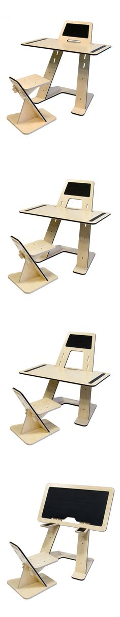 4 products in one ! AZ desk for kids by Guillaume Bouvet / Bureau evolutif pour enfants