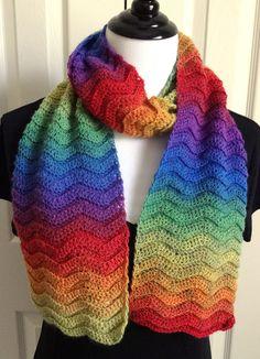 Gentle Waves Scarf By Karen Klemp - Free Crochet Pattern - (ravelry)