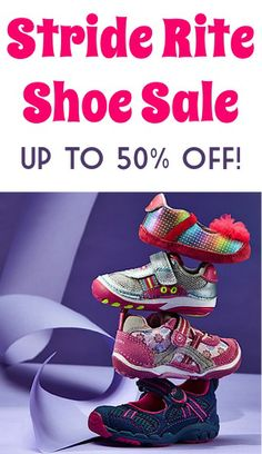 Stride Rite Shoe Sale: up to 50% off!
