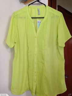 MAYA, sz bright yello, pin tucks, button up for sale on Trade Me, New Zealand's auction and classifieds website Pin Tucks, Maya, Button Up, Bright, Sweaters, Tops, Women, Fashion, Moda