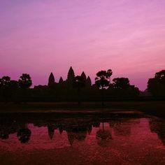 Coucher de soleil sur Angkor Wat au Cambodge!  #voyagevoyage #destination #cambodge #asie #paysage #ciel #voyage #aventure #blogvoyage #instatravel