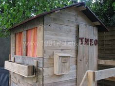 IMG 8489 1024x768 600x450 Cabane pour enfants / Kids house  in pallet garden pallets architecture  with Pallets Kids Hut House