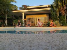 Around the Pool with Sea View Meditation Class - a Yoga and Meditation class amidst tropical tree and flowers! <3
