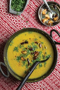 From SAVEUR Issue #167 In early spring, green, unripe mangoes are a featured ingredient in the daily menu at Raja Sulaiman Khan's home in Lucknow. Here, amchoor—dried green mango—adds sour pungency to creamy lentils.