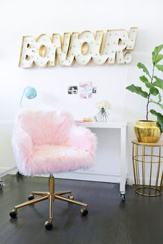 I'm kind of into this chair and the process...  Office chair makeover (click through for tutorial)