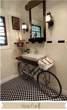 bathroom whimsy