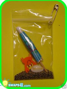 """Beach in a Bag with Crab """"Girl Scout"""" SWAPS Craft Kit by Swaps4Less.com in Collectibles, Historical Memorabilia, Fraternal Organizations 