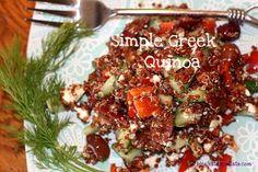 Simple Greek Quinoa! yummmmmm