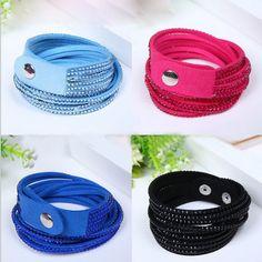 Shiny Handmade Leather Bracelets With Full Crystal Wide Men Women Bracelet Bangles New arrvial Gift Jewelry 1.8cm *40cm♦️ SMS - F A S H I O N 💢👉🏿 http://www.sms.hr/products/shiny-handmade-leather-bracelets-with-full-crystal-wide-men-women-bracelet-bangles-new-arrvial-gift-jewelry-1-8cm-40cm/ US $0.85