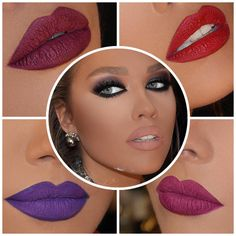 «أي لون حمرة شفاه تفضلين مع مكياج السموكي أيز ؟ which lipstick color do you prefer for the smokey eyes make up ? #mua #talalmorcos #makeup #smokeyeye…»