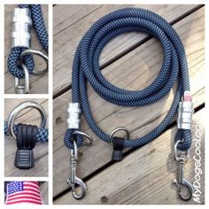 Hands free Jaeger dog leash. Perfect for hiking with big dogs. MyDogsCool.com