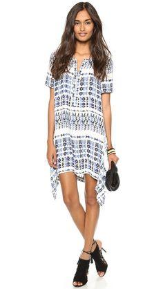 BCBGMAXAZRIA Renae Cape Back Zip Dress shopbob.com