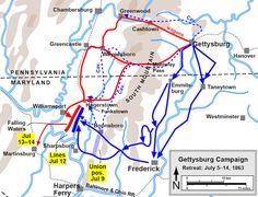 Gettysburg Map, Gettysburg Pennsylvania, Gettysburg Battlefield, Gettysburg Address, American Civil War, American History, Gettysburg National Military Park, Civil War Art, Harpers Ferry