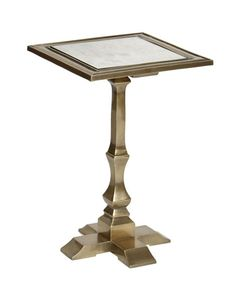 Henry Accent Table, Brass Finish  available at Obelisk Home obeliskhome.com #table #brass #furniture