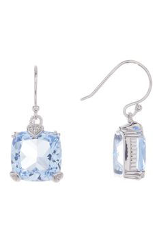Sterling Silver Cushion Fontaine Earrings by Judith Ripka on @HauteLook