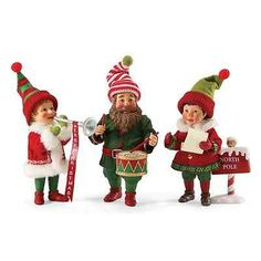 Dept-56-Possible-Dreams-Singing-Band-Of-Elves-3-pc-Set-4038709-NEW-RETIRED-Santa
