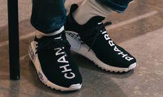 Here's What the Pharrell x Chanel x adidas Hu NMD Looks Like IRL