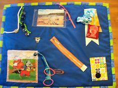 Memory Fidget Busy Blanket Dementia ADH, Alzheimers Blind Elderly Fiddle Sensory | eBay