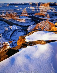 ~ Winter Sunrise Over the Colorado River Canyons ~ Canyonlands, Dead Horse Point State Park, Utah....
