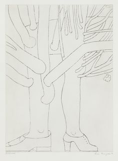 Louise Bourgeois - Tree with Shoes (plate 4 from Topiary, The Art of Improving Nature); 1998