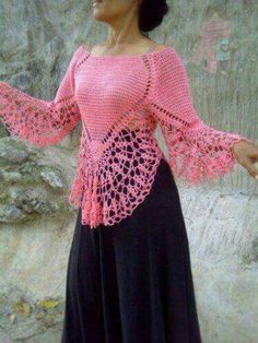 Gilet Crochet, Crochet Tops, Sweaters For Women, Men Sweater, Crochet Clothes, Sewing Tutorials, Crochet Patterns, Arts And Crafts, Tunic Tops