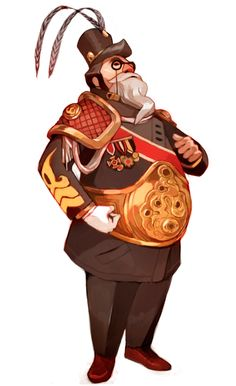Character art for shits and giggles. What Guan Yu would look like if he was a modern day general / by Sachin Teng