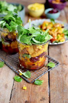 Enchilada Salat - Enchilada Salad In A Jar   Das Knusperstübchen