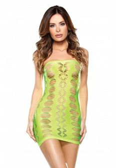 02f9ef17bc0 Neon Green Cutout Seamless Chemise Dress dropship will make you feel  smoking hot in the club or poolside.