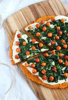 RECIPE + VIDEO! Made this a sweet potato crust, this veggie pizza with a vibrant orange color is naturally gluten free and healthier than a regular pizza.   Del's cooking twist