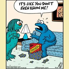 So funny. Just some random cookie monster humor. I feel the same when the Mr. gives me a gift. Funny Shit, Funny Cute, Haha Funny, Hilarious, Funny Stuff, Funny Today, Funny Work, Memes Humor, Funny Memes
