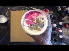 Here's a short video on fluid acrylic pouring technique. Create modern abstract art in just 2 mins. Please comment and share the link. My artworks are availa... #artpainting