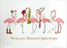 Festive Flamingoes