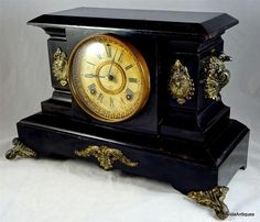 Antique 1800s Wag On Wall Clock Black Forest Germany Hand