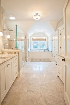 bright and airy master bathroom | KP Designs and Associates