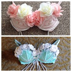 I really like these two rave bras as a day one and two idea for edc