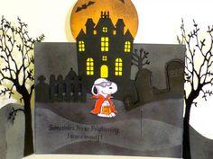 Snoopy's Halloween - inside my first Bendi Fold Card.