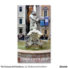 The fontana del pantheon roma italy business card italian the fontana del pantheon portrait rome italy business card reheart Images