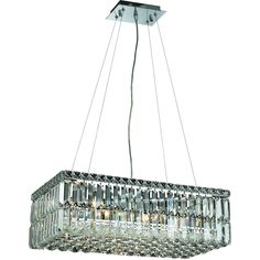 """Maxime 24"""" Crystal Chandelier with 6 Lights - Chrome Finish and Royal Cut Crystal"""