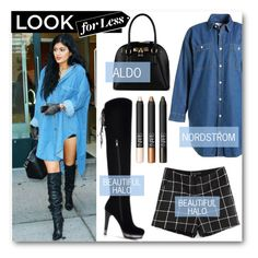 """Get the Look: Kylie Jenner"" by eclectic-chic ❤ liked on Polyvore featuring :CHOCOOLATE, ALDO, LookForLess, KylieJenner and bhalo"
