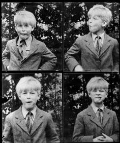 Prince Philip as a boy - a typical little boy making faces for the camera!