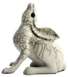 Afbeeldingsresultaat voor raku animal sculpture