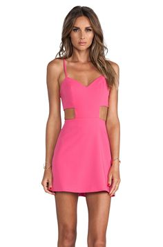 Naven Sweetheart Cutout Dress in Pop Pink from REVOLVEclothing