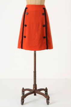 Piped sailor skirt. Wool. Girls from Savoy. $118