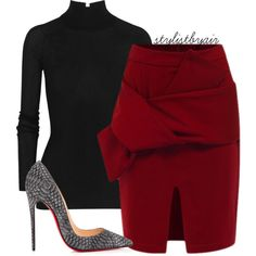 A fashion look from October 2015 featuring T By Alexander Wang sweaters and Christian Louboutin pumps. Browse and shop related looks. Classy Outfits, Stylish Outfits, Fashion Outfits, Womens Fashion, Fashion Tips, Professional Outfits, Work Wardrobe, Work Attire, Passion For Fashion