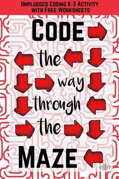 This unplugged coding activity uses a maze to teach the basics of programming and is ideal for Kindergarten through graders. Start learning how to code! Steam Activities, Kids Learning Activities, Infant Activities, Teaching Technology, Teaching Biology, Teaching Kids, Basic Programming, Computer Programming, Computer Science