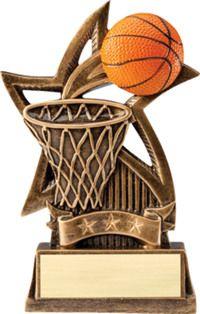 Male Court Free Lettering Hoop Bobblehead Basketball Trophy