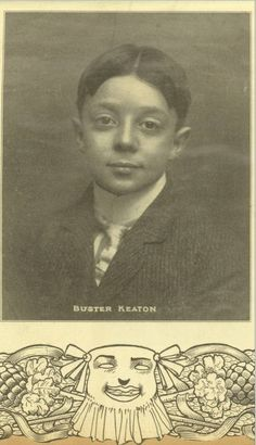 iloveitwhenyoucallmebigpapagena:  Buster around age 10, 1903 from mother Myra's scrapbook   What a cutie